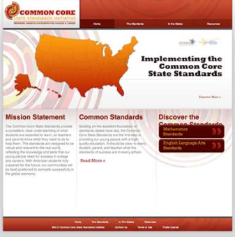 COMMON CORE INITIATIVES WEBSITE